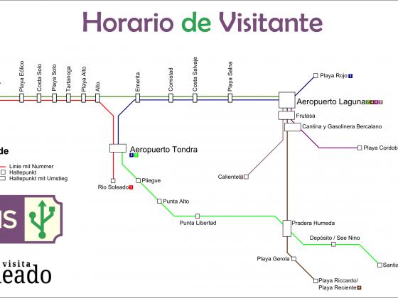 Linienplan für das Touristennetz